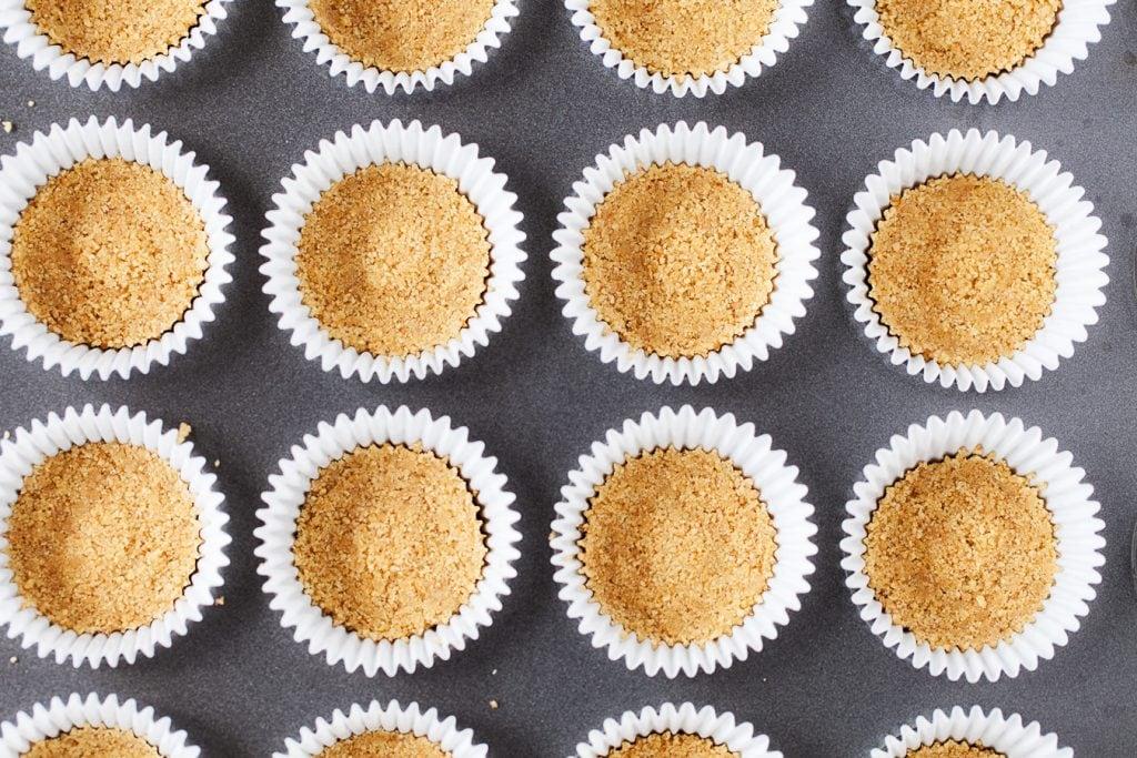 Strawberry Cheesecake Mini Cupcakes Crusts