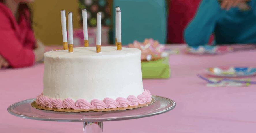 Tobacco Free New York State Birthday Cake