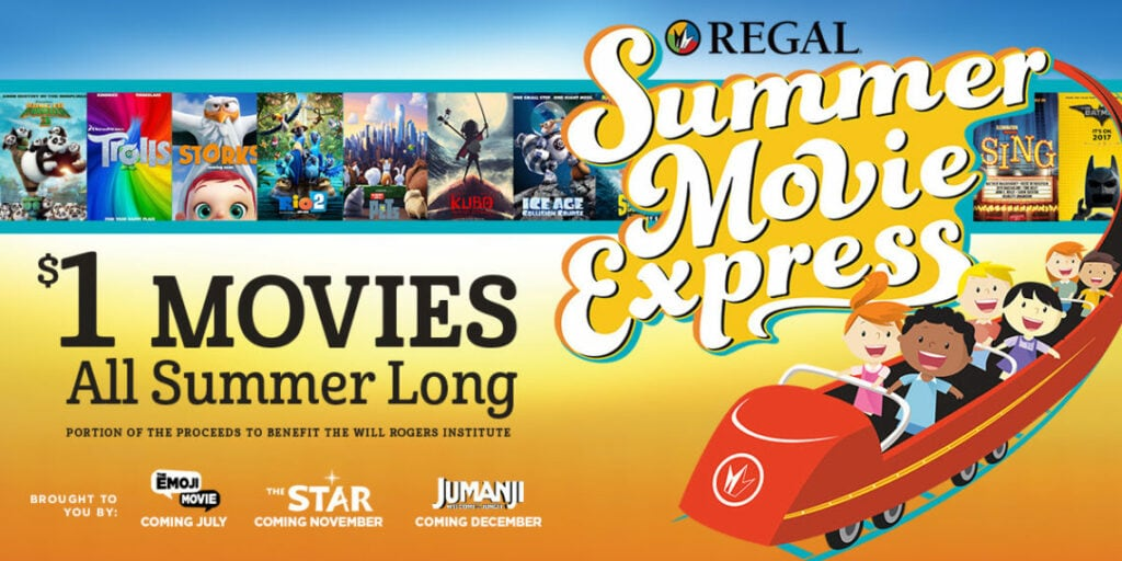Regal Cinemas: Dollar Movies Line Up For 2017 Summer Movie Express