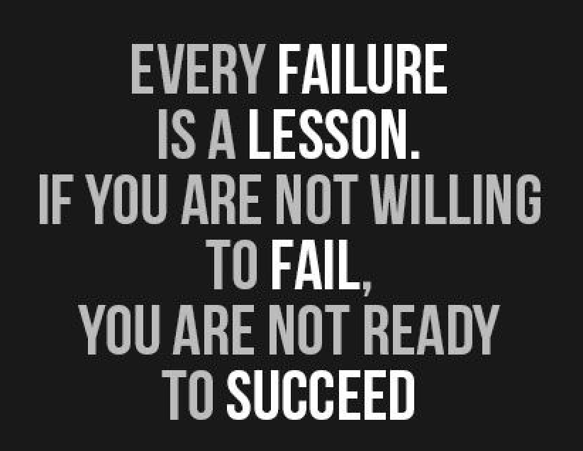 Never be Afraid to Fail