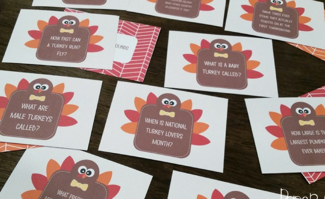 Thanksgiving Family Game Ideas