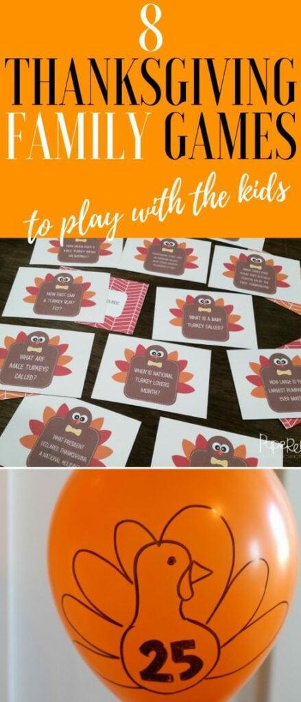 Thanksgiving Family Game Ideas