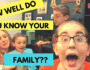 How Well Do You Know Your Family? Game Night Challenge