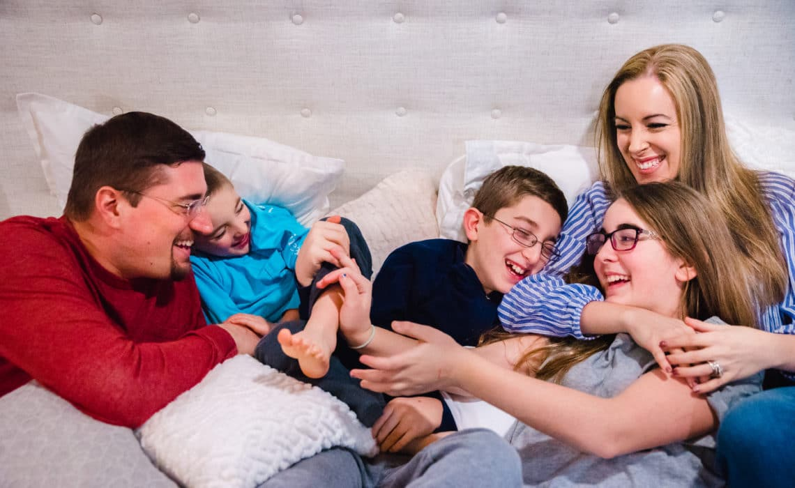 Family Photo Shoot At Home With Francesca Russell